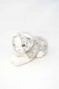 Stuffed Animal Cat Gray Trudi