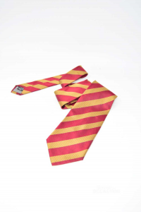 Cravatta Kenzo 100% Seta Bordò Ocra