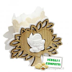 Portaconfetti Albero della Vita con Calice 10x4x8.5 cm - Sacchetti comunione