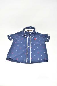 Shirt Boy Louis Vuitton Replica Size S Color Blue