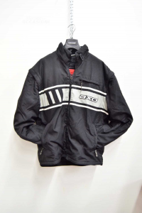 Jacket Man Motorcycle Toxor Black In Cordura Sizexx L