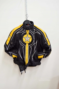 Jacket Motorcycle Man Hein Gericke In Cordura Black And Yellow Size L