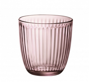 Set bicchieri in vetro rosa