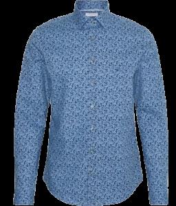 Camicia uomo colore Blu vestibilità slim fit | marca Calvin Klein