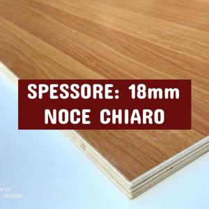 Tavola Multistrato Bilaminato Noce Chiaro - Spessore: 18mm - Scegli tu le misure!