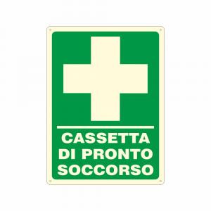 Cartello luminescente Cassetta di pronto soccorso