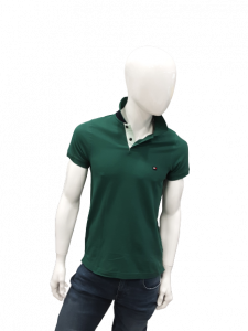 Polo uomo verde mezza manica  tommy hilfiger