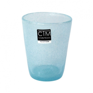 Bicchieri colorati con bollicine Tonga Azzurro