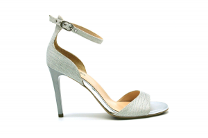 Sandalo in tessuto glitter