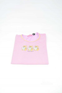 T-shirt Baby Girl Enrico Coveri Pink With Teddies 8 Years