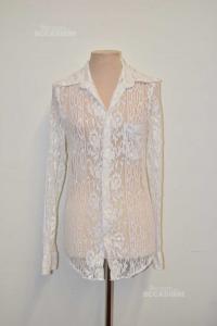 Camicia Donna Bianca In Pizzo Dolce & Gabbana Tg 39
