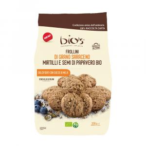 Biscotti con Saraceno Mirtilli e Semi di Papavero Bio's 200 gr