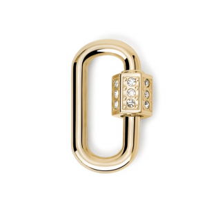 2Jewels Lucchetto Lock 'n' Chain - Ovale Pvd Gold Cristalli