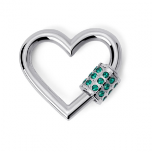 2Jewels Lucchetto Lock 'n' Chain - Cuore Cristalli Verde
