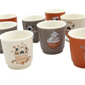 Brandani, bicchierino caffe cani gatti