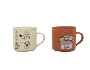 Brandani 2 tazze mug gatti