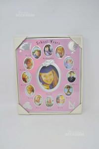 Holder Photo School Years Background Pink