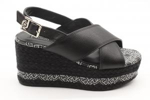 Liu Jo sandalo nero con zeppa