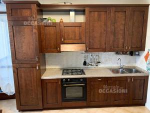 Cucina Stile Rustico Completa Lunghezza 320 Cm Con Elettrodomestici