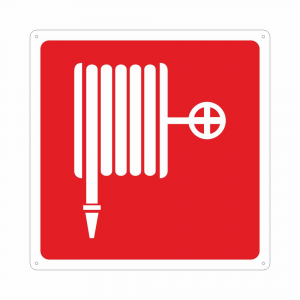 Cartello con simbolo lancia antincendio naspo