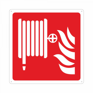 Cartello con simbolo F002 lancia antincendio naspo ISO