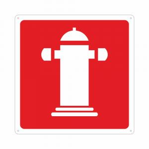 Cartello simbolo colonna idrante