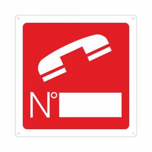 Cartello simbolo telefono antincendio