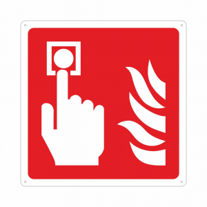 Cartello con simbolo F005 pulsante antincendio ISO