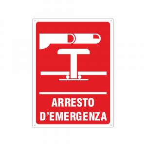 Cartello Arresto d'emergenza