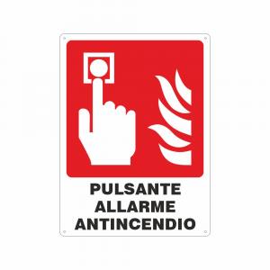 Cartello pulsante allarme antincendio