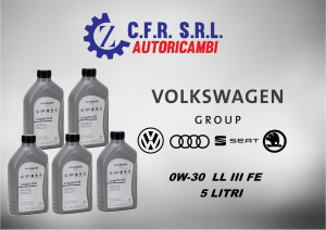 5PZ OLIO LUBRIFICANTE PER VW 0W-30 ORIGINALE