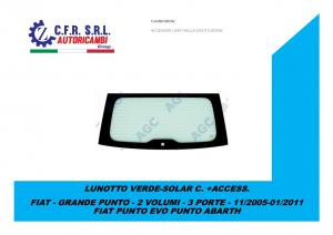 LUNOTTO VERDE-SOLAR C. +ACCESS.PER FIAT GRANDE PUNTO PUNTO EVO 3/5 PORTE