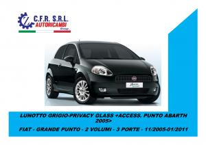 LUNOTTO GRIGIO-PRIVACY GLASS +ACCESS. PUNTO PER ABARTH 2005
