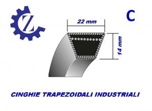 CINGHIA TRAPEZOIDALE INDUSTRIALE SEZIONE C95 22X2413