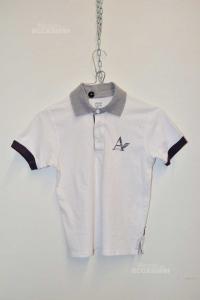 T-shirt Boy Armani Junior White 7 Years