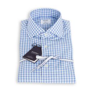 Camicia Mazzarelli Popeline Quadri Azzurri