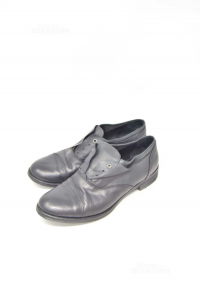 Shoes Woman Black In Real Leather N°.40