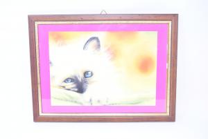 Quadro Raffigurante Un Gatto Fatto A Gessetto