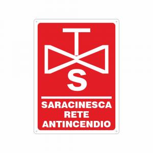 Cartello Saracinesca rete antincendio
