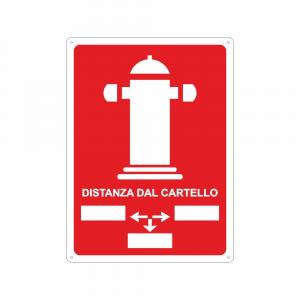 Cartello Idrante distanza dal cartello