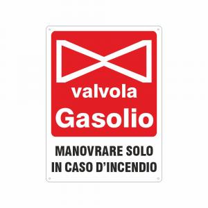 Cartello Valvola Gasolio