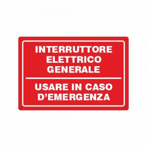 Cartello Interruttore elettrico generale