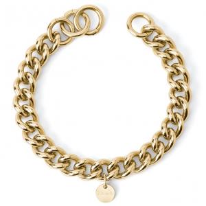 2Jewels Bracciale Lock 'n' Chain - Groumette Larga Pvd Gold