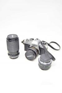 Machina Fotografica Yashica FR 2 + 2 Obiettivi Vivitar 1:4.5-5.6 70-210mm E 1:2.8 24mm