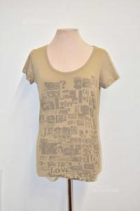 T-shirt Donna Beige Calvin Klein Tg Xl