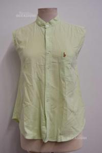 Canotta Donna In Jeans Verde Ralph Lauren Polo Tg 44