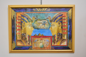 Quadro Puzzle Coppia Faraoni Egizi 92 X 69 Cm