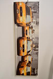 Stampa Moderna Rettangolare Città Di Ny Taxi 140x 45