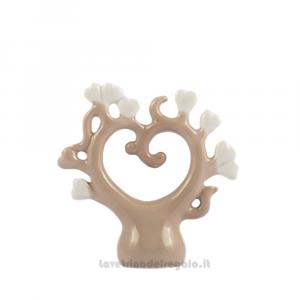 Albero della Vita Beige in porcellana 7x7 cm - Bomboniere