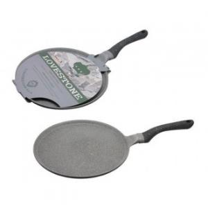 Love Stone Crepiera 28 cm Con Manico Antiaderente Resistente Per Crepes Dolci o Salate Casa Cucina Padella